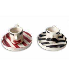 Seramik Kadın Erkek Çift Kahve Fincanı