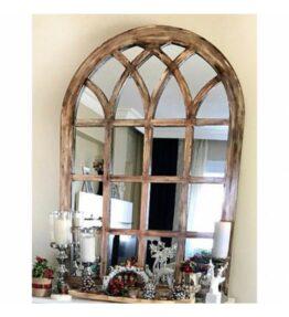 Kafes El Boyaması Aynalar 80x110 Cm (Aynasız & Kahverengi)